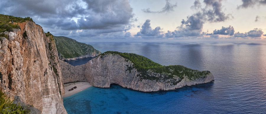 Photograph Navagio Beach - Panorama by Peter Miškus on 500px