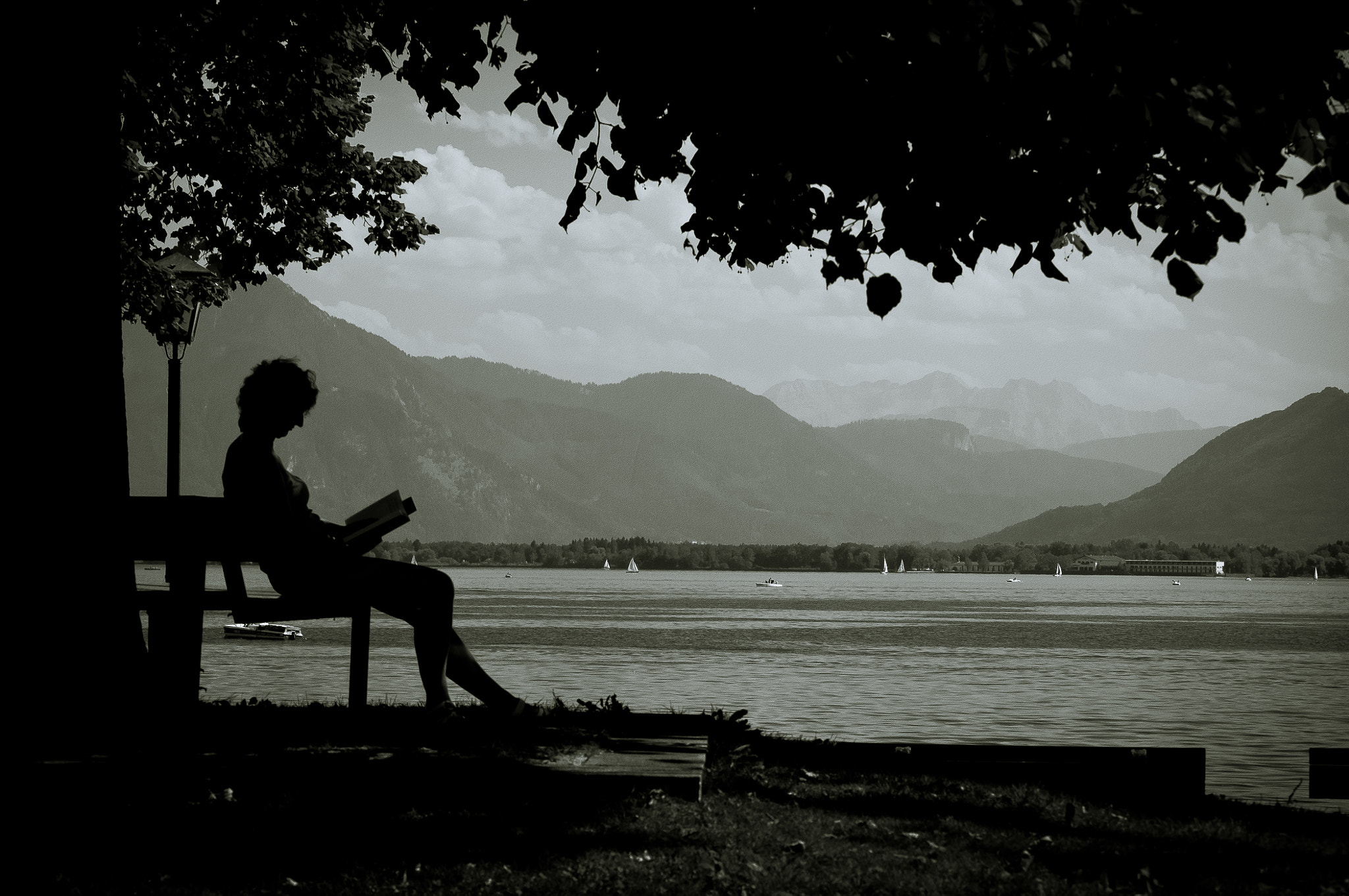Photograph Reading by the lakeside by Hartmut Haerer on 500px