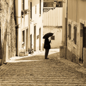 Walking with an Umbrella by Jose Antonio Castellanos (joseacastellanos)) on 500px.com