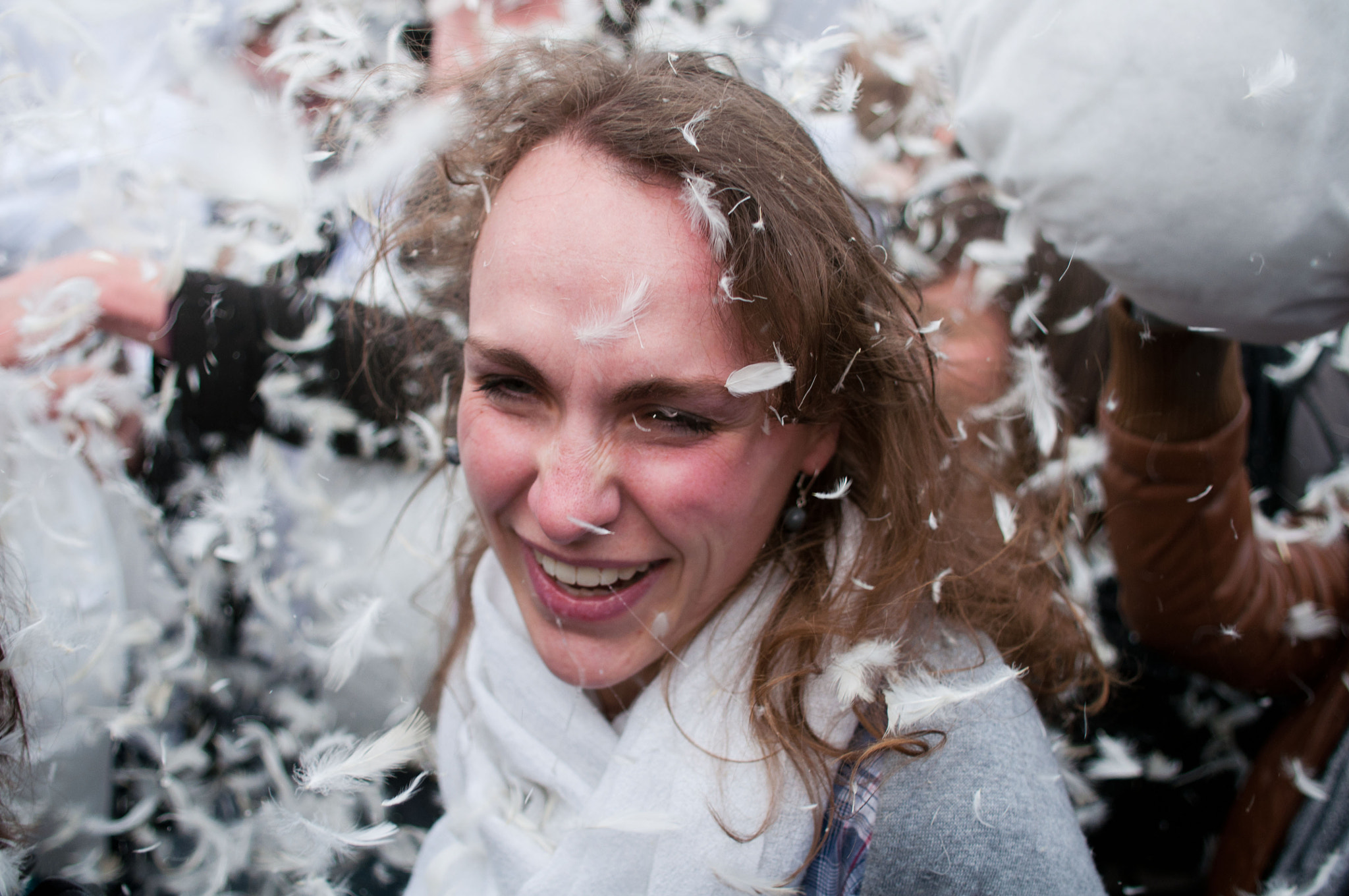 Photograph International Pillow Fight Day-2 by Julien Rath on 500px