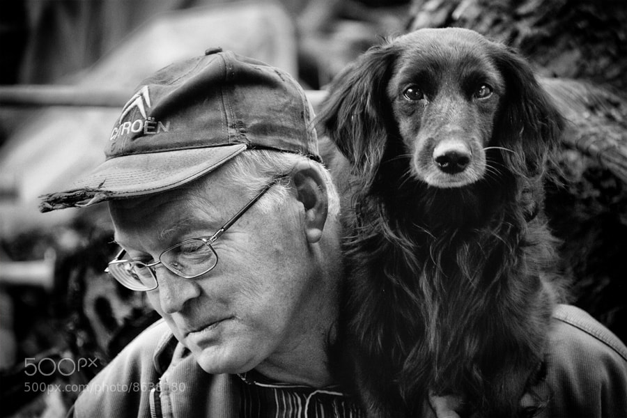 Photograph Man with a dog by Stanislav Šebek on 500px