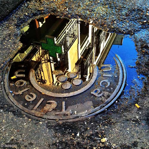 Photograph Madrid reflected on a puddle (IV) by Luis Rodriguez on 500px