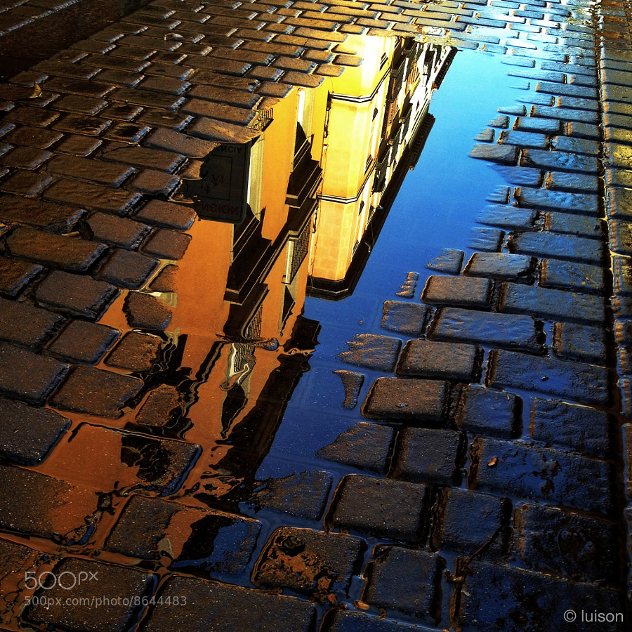 Photograph Madrid reflected on a puddle (VIII) by Luis Rodriguez on 500px