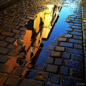 Madrid reflected on a puddle (VIII) by Luis Rodriguez (luisonrh)) on 500px.com