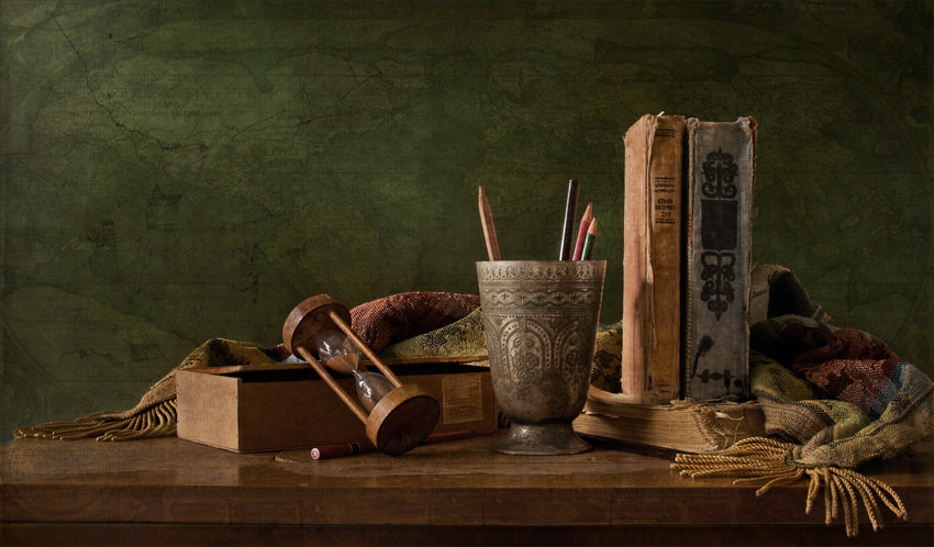 Photograph classic still life with books by Yulia Pletinka on 500px