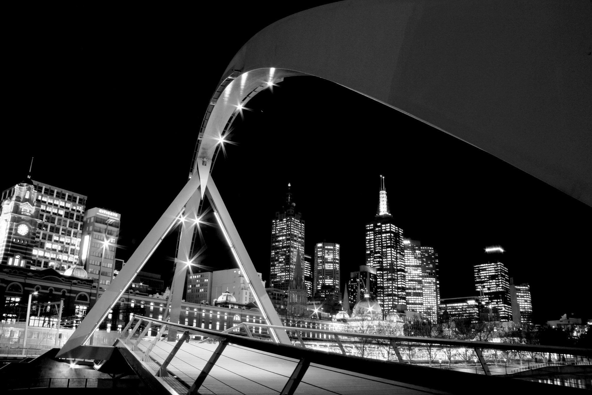 Photograph Melbourne City @ Night  by Mohammed Attar on 500px