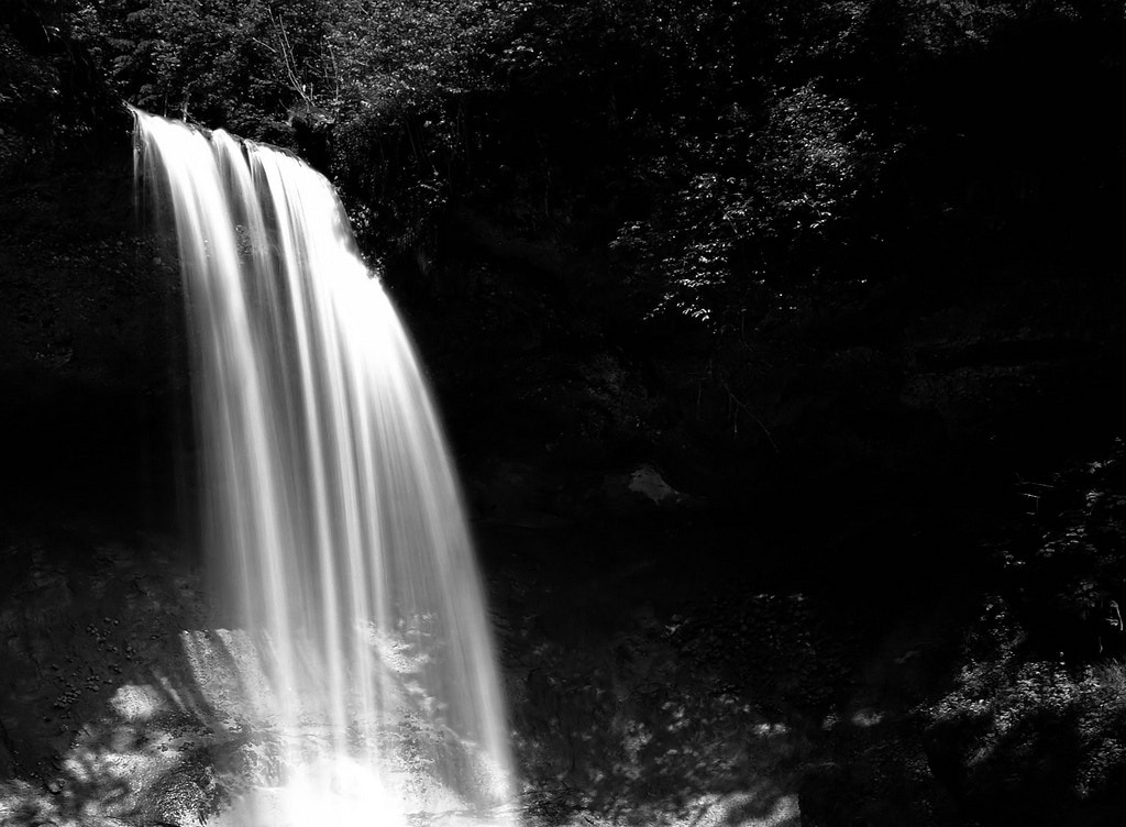 Photograph Waterfall / Black and White Version by Djura Stankovic  on 500px