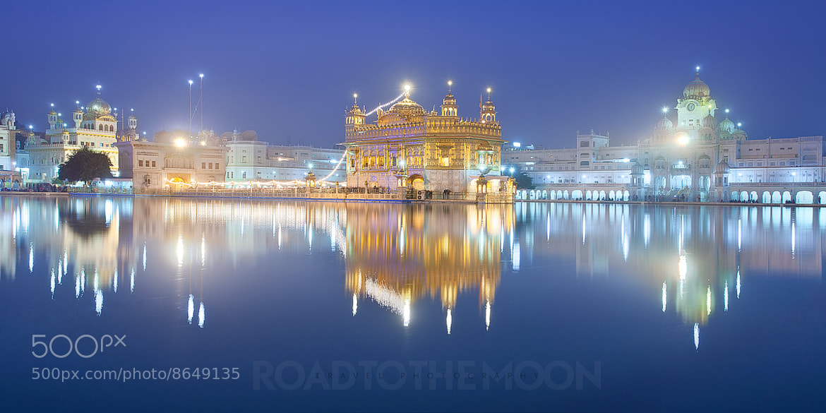 Photograph The Golden temple at blue hour by Road to the moon // Travel Photography // on 500px