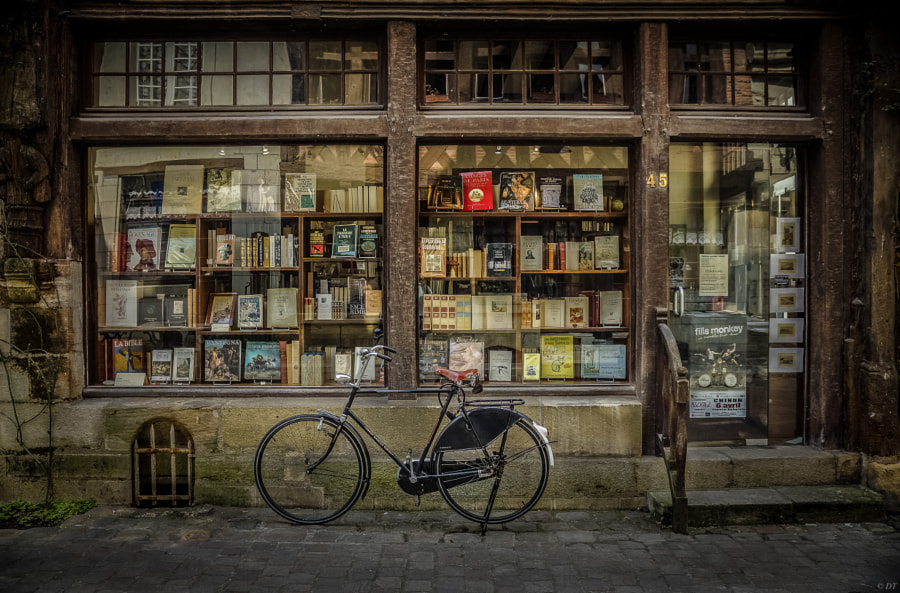 Photograph Books & Bike by Daniel Torres on 500px