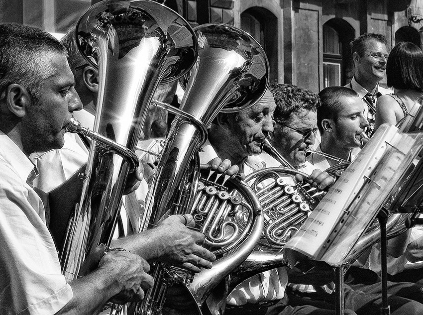 Photograph orchestra playing by Arisa Dina on 500px