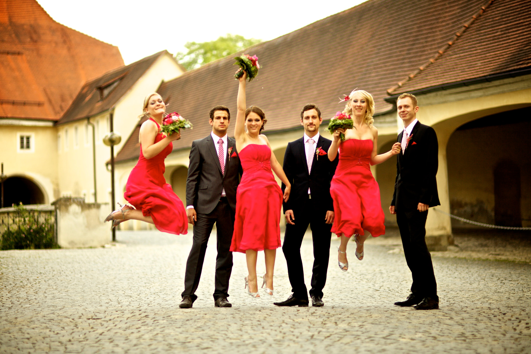 Photograph Jumping girls at a Wedding by Philipp Göllner on 500px