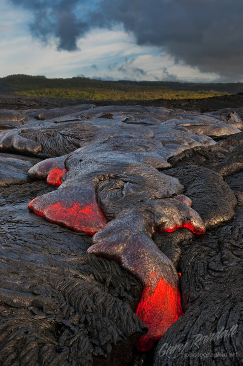 Photograph Viscous Mass of Red Hot Rock by Gary Randall on 500px