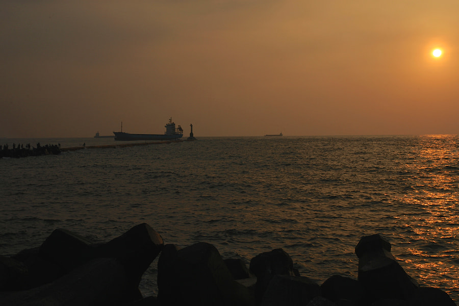 Sunset at 西子湾