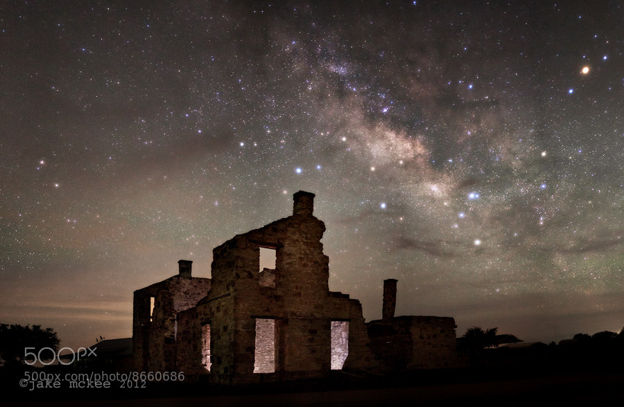 Photograph Milky Way Over Fort McKavett by Jake  McKee on 500px