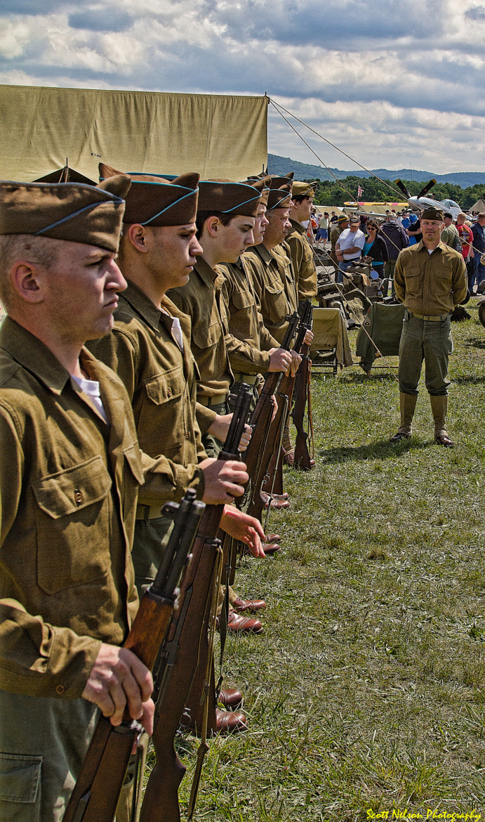 Photograph WWII Drill can Ceremony by Scott Nelson on 500px