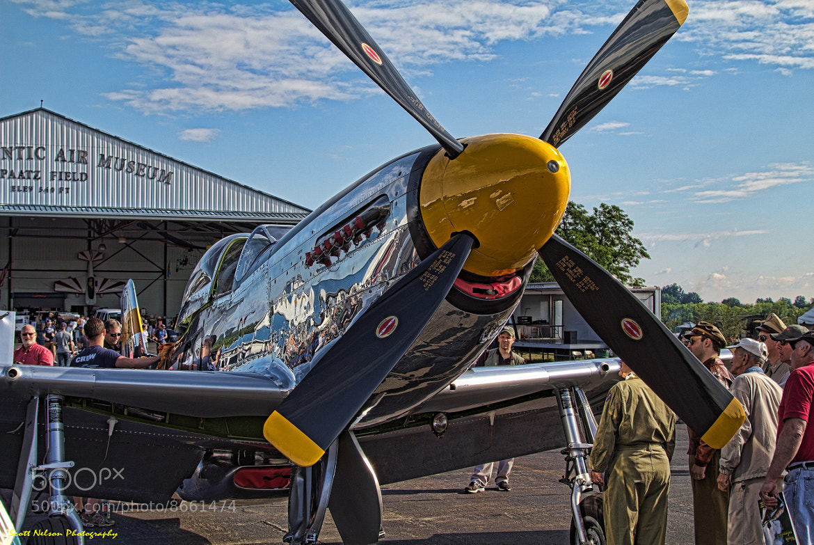 Photograph P-51D Mustang Quicksilver With Old Pilots by Scott Nelson on 500px