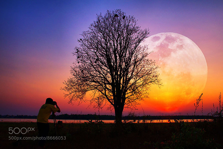Photograph Moon by Chanwit Whanset on 500px