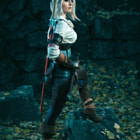 Постер, плакат: The Witcher 3: wild hunt Cirilla
