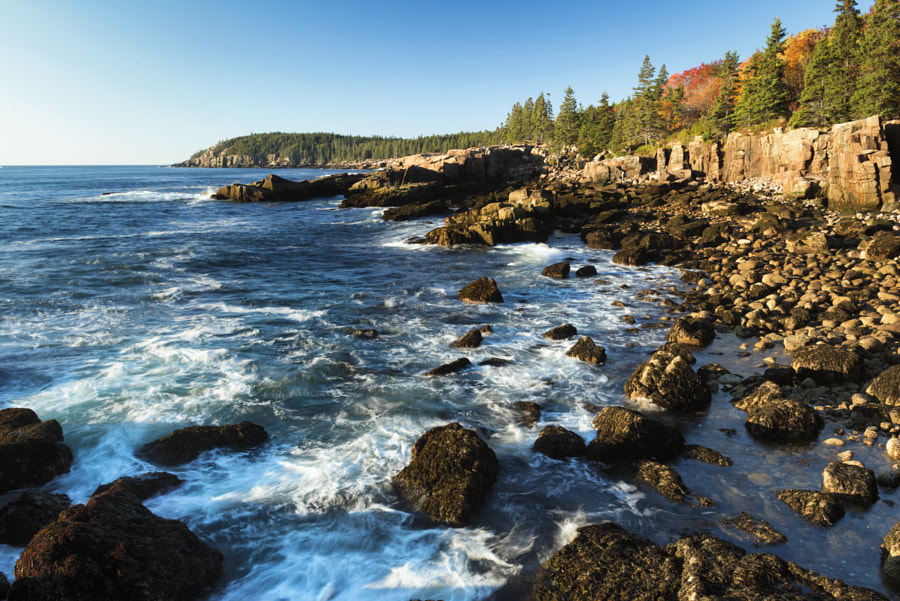 Rocky coastline of Acadia National Park by Jaroslav Nesvadba on 500px.com