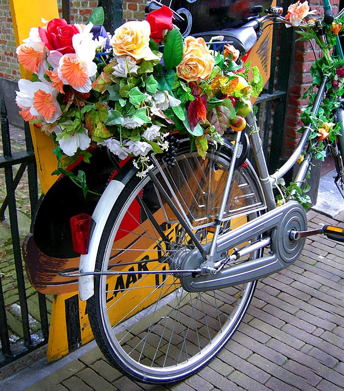 Photograph  DUTCH FLOWER-POWER BIKE, some FUN for A MONDAY... by Magda Indigo on 500px