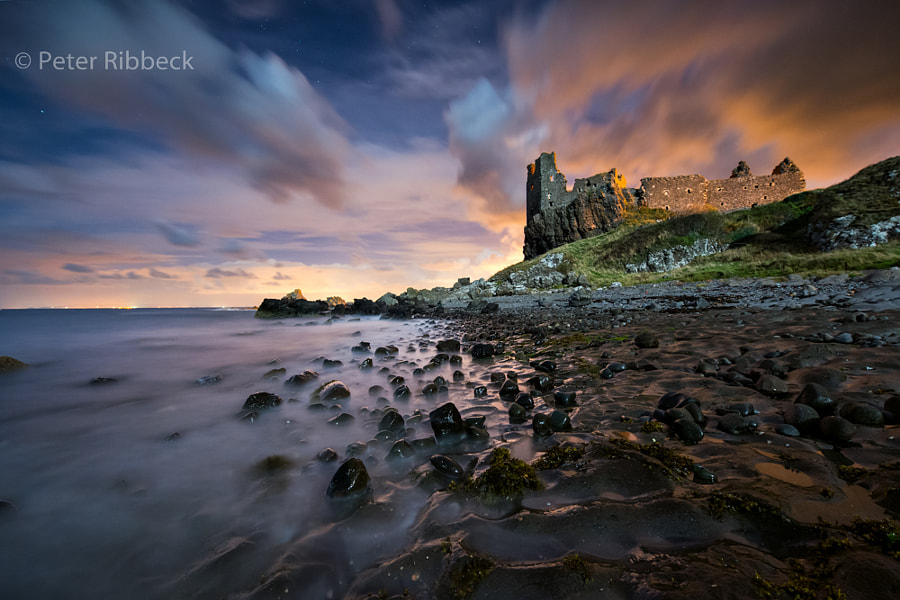 Photograph Dunure Castle at night by Peter Ribbeck on 500px