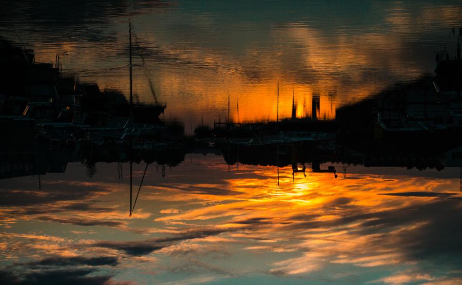 sunset upside Down by Jan op 't Hof on 500px.com
