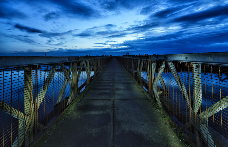Light-Painted Bridge, Southwold Harbour