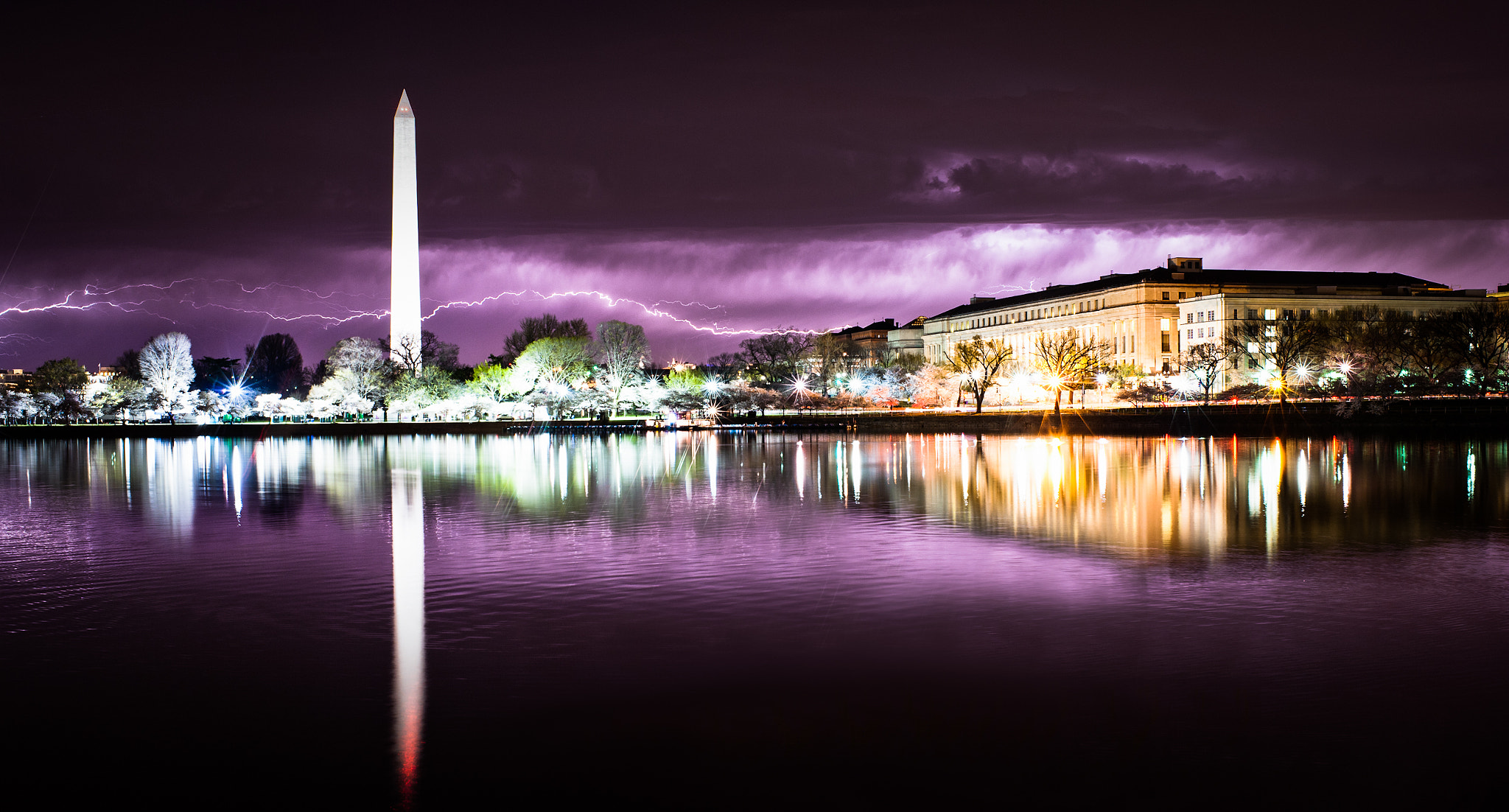 Photograph Lightning Storm Over Tidal Basin #2, Washington DC by Craig Hudson on 500px