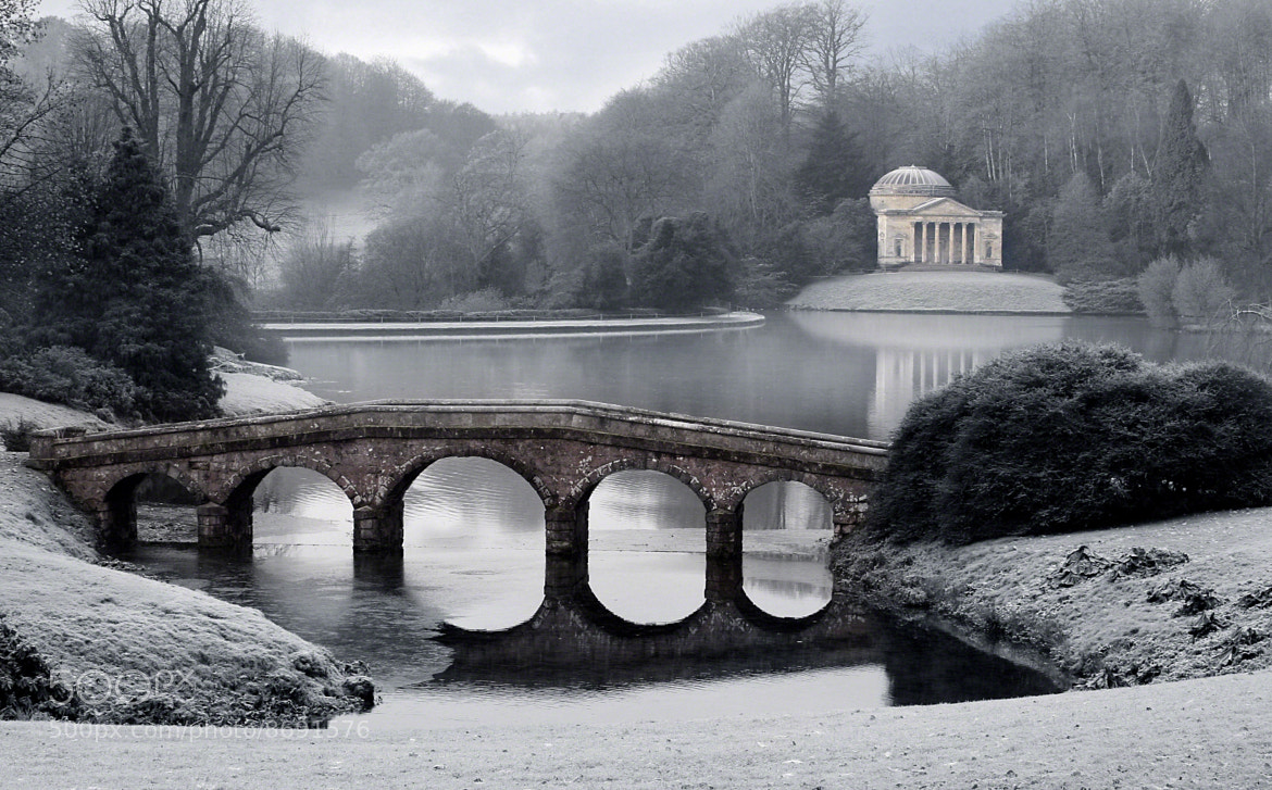 Photograph Frosty Morning at Stourhead by Amanda White on 500px