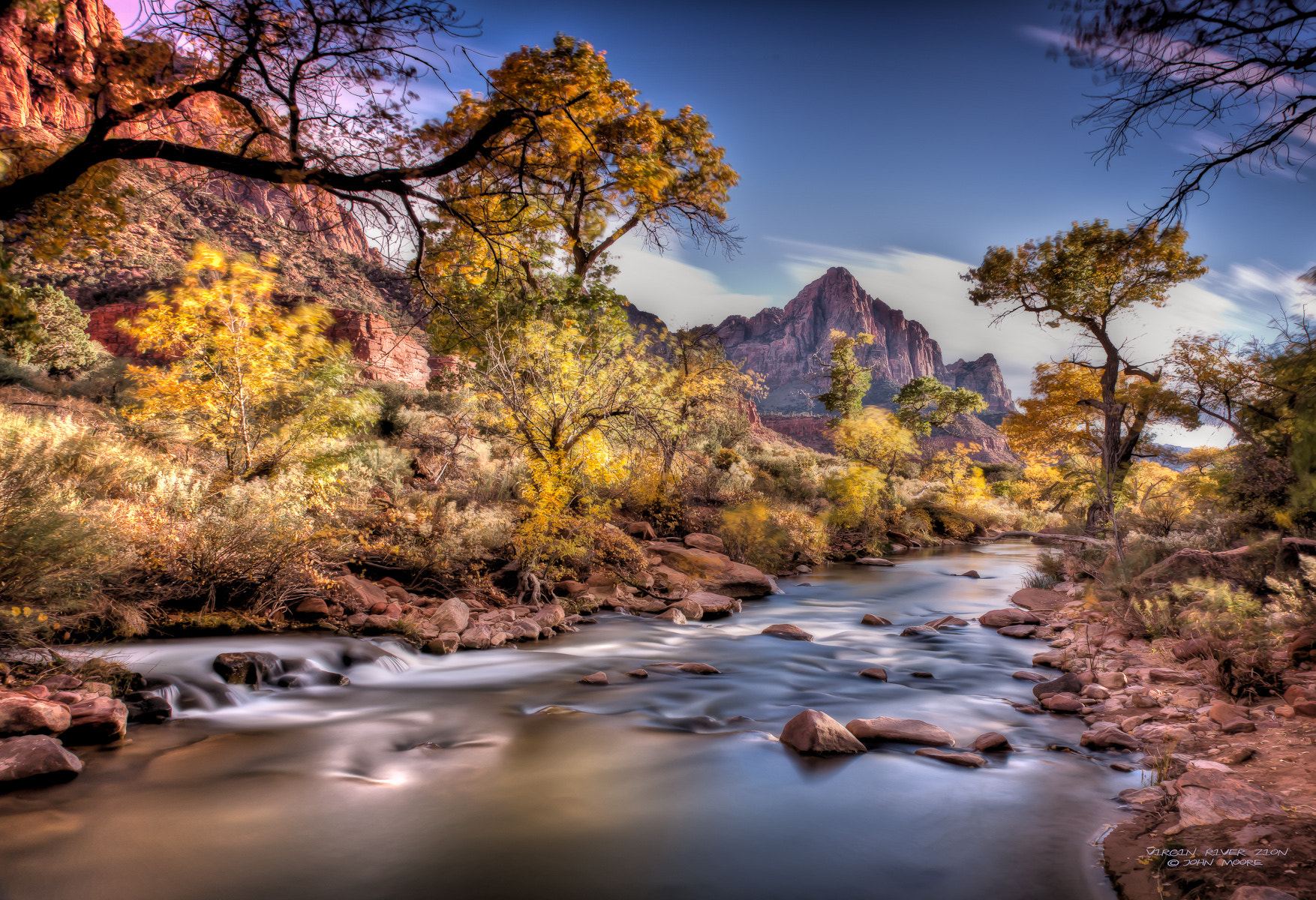 Photograph Virgin River Zion by John Moore on 500px