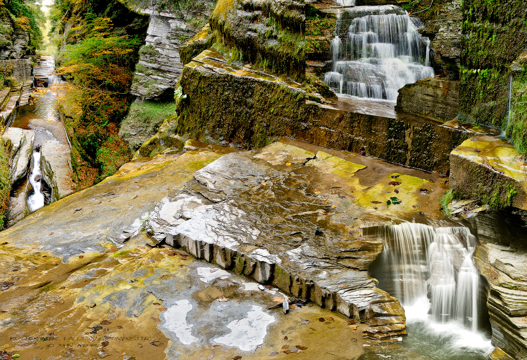 Photograph Buttermilk Falls NY Composite by John Moore on 500px