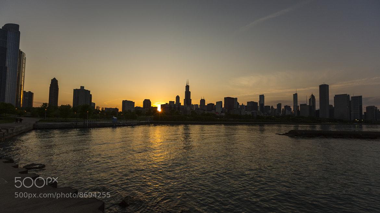Photograph Chicago Sunset by Matt Sellars on 500px
