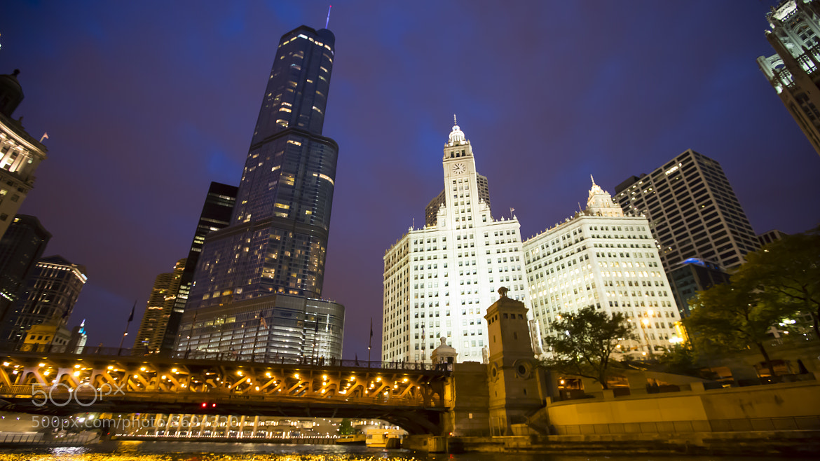 Photograph Trump Tower and Wrigley Building by Matt Sellars on 500px