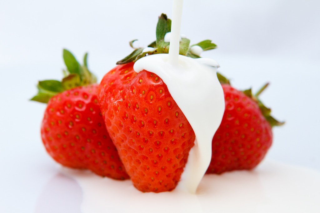 Photograph Strawberries & Cream by Myles Noton on 500px