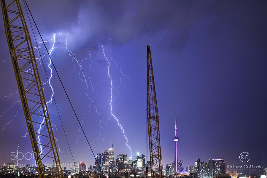 Toronto Lightning Strikes by Richard Gottardo (RichardGottardo) on 500px.com
