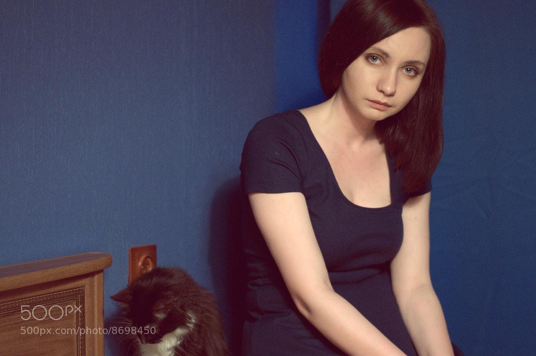 Photograph She and a cat by Anastasia Tretyakova on 500px