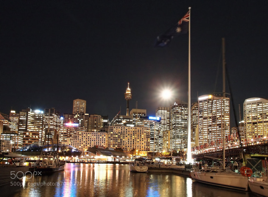 Photograph Darling Harbour under the full moon by Anton Rahmadi on 500px