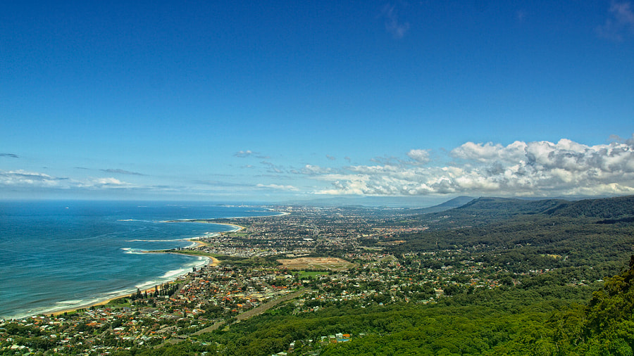 Wollongong from a distance