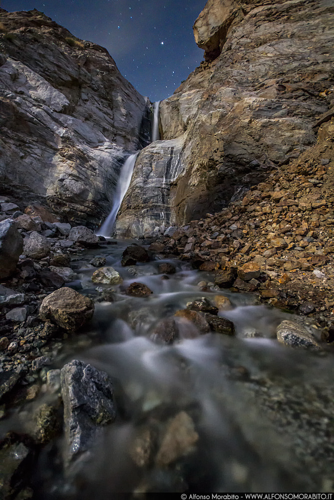 Photograph Waterfall Moonlight by Alfonso Morabito on 500px