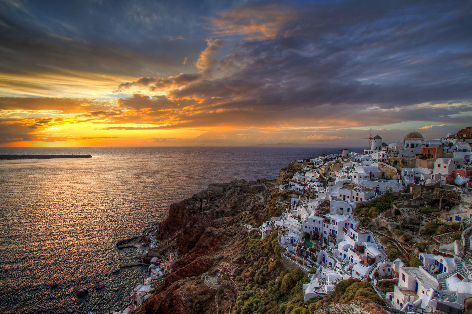 Photograph Sunset Over Oia by Nikola Totuhov on 500px