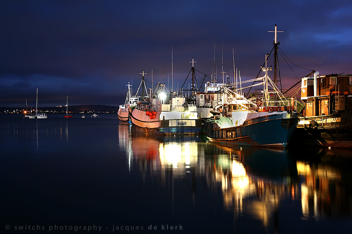 Photograph Saldanha Harbor at night by Jacques De Klerk on 500px
