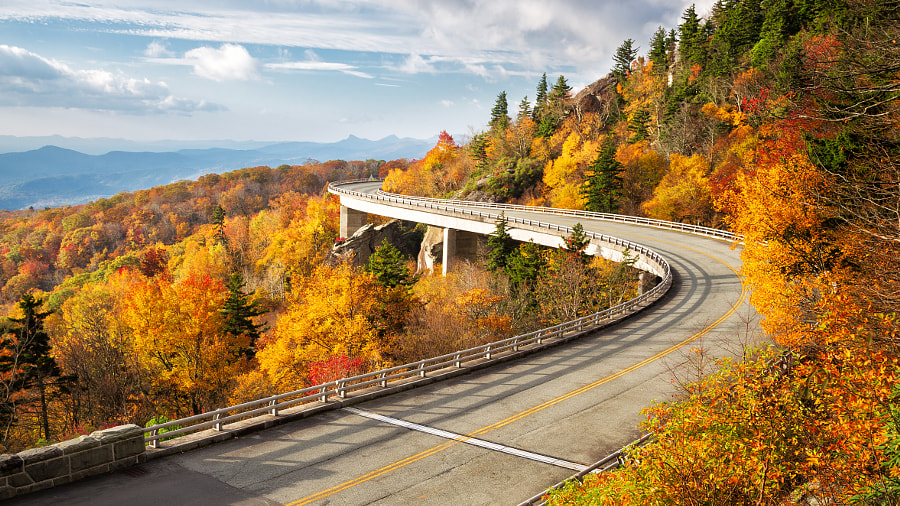 Fall at Linn Cove Viaduct by Alex Mironyuk on 500px.com