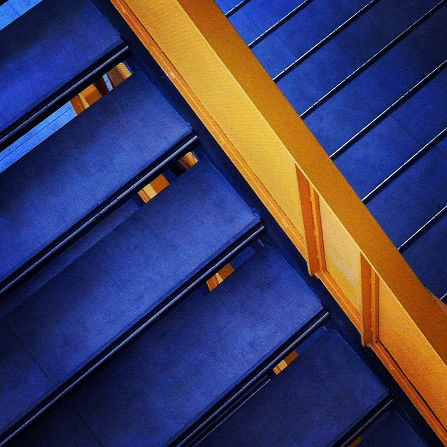 Photograph Blue stairs by Daniel Fuentealba on 500px