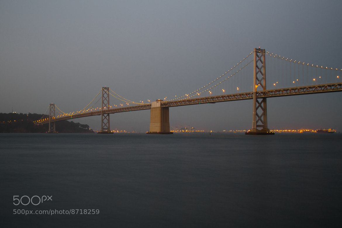 Photograph Bay Bridge at Dusk by Daniel Kennett on 500px