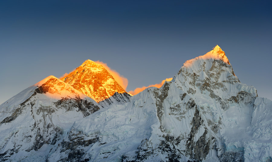 mt. Everest in the sunset rays by risarts42 on 500px.com