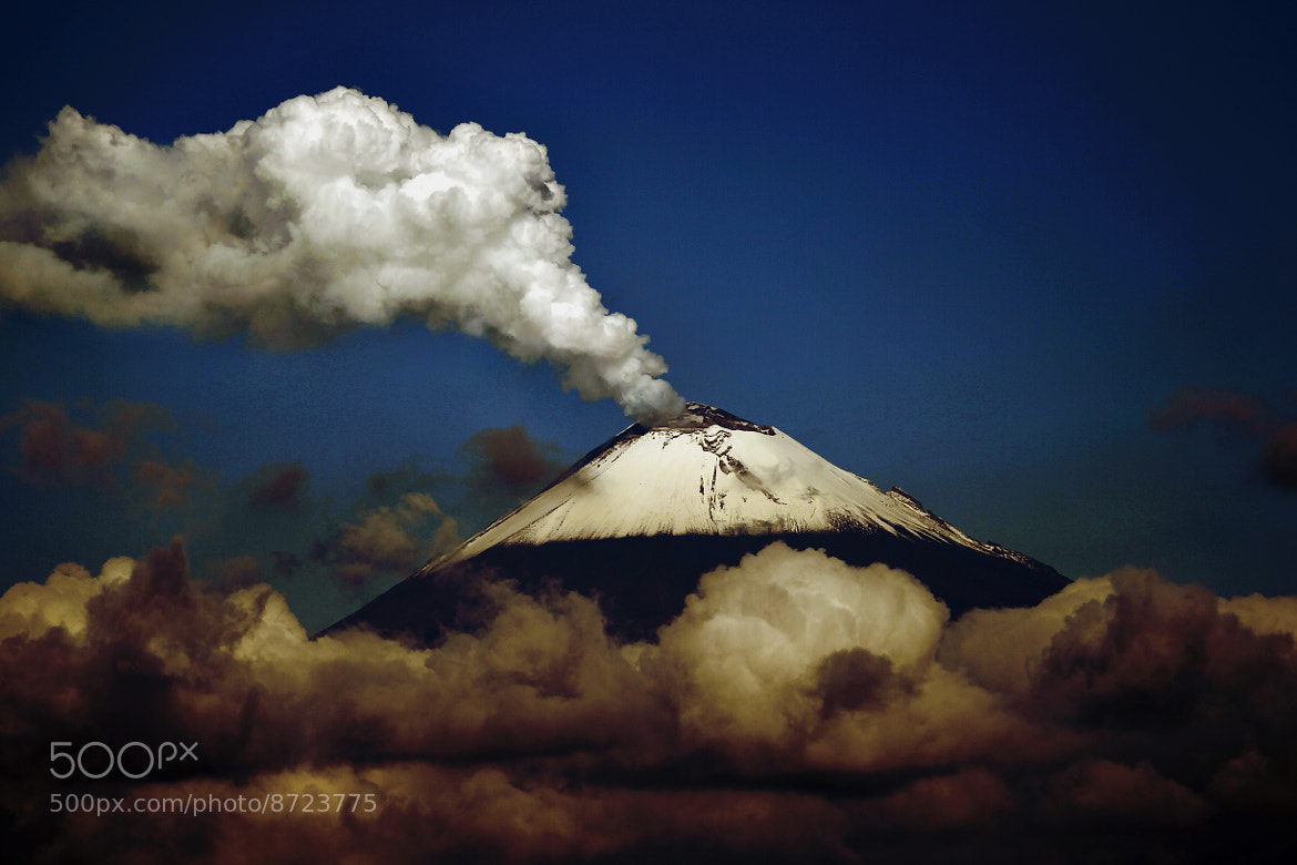 Photograph clouds and snowy volcano by Cristobal Garciaferro Rubio on 500px