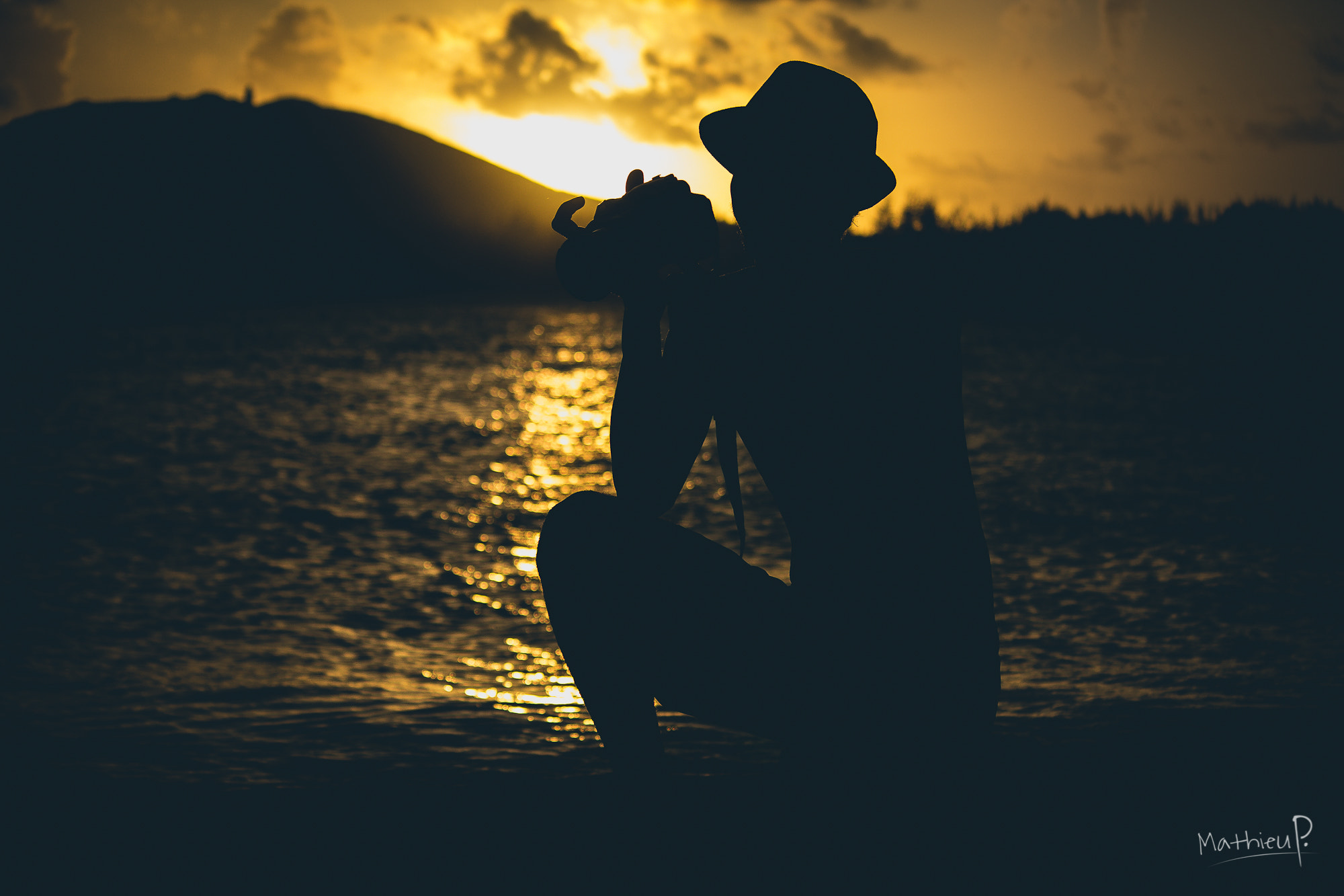 Photograph Sunset silhouette by Mathieu P. on 500px