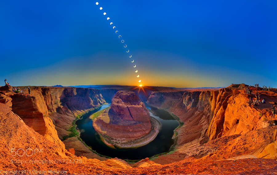 Photograph Ring of Fire - Horseshoe Bend by Clinton Melander on 500px