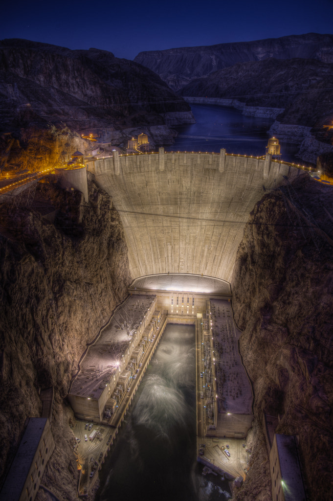 Photograph Hoover Dam Night by Argo Shots on 500px