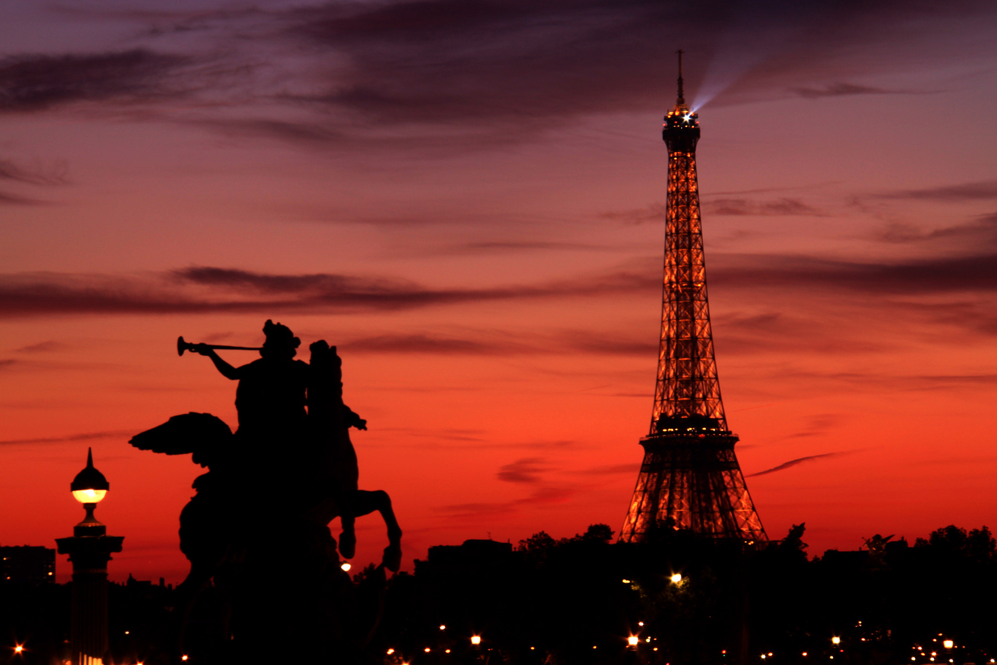 Photograph Paris at Dusk by Jacky CW on 500px
